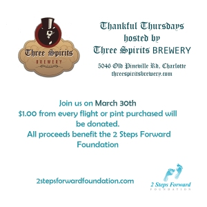 Thankful Thursday At Three Spirits Brewery March 30th